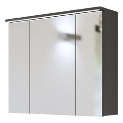 Szafka do łazienki z lustrem LED Mona 80 cm szara