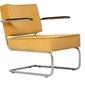 Zuiver :: krzesło lounge ridge rib arm żółte