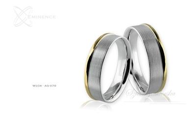 Obrączki srebrne - wzór ag-079