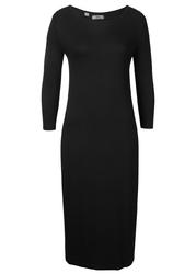 Sukienka shirtowa z rękawami 34 bonprix czarny