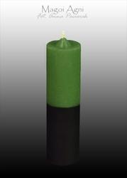 Świeca cofająca zielono czarna - pech, finanse, zdrowie