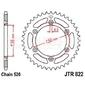 Zębatka tylna stalowa jt 822-43, 43z, rozmiar 520 2300411 husqvarna wre 125, beta rr 400