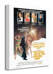 James Bond The Man With The Golden Gun - Obraz na płótnie