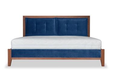 Łóżko klematisar bergen welurowe 160x200 deluxe - welur łatwozmywalny indigo