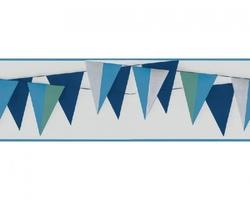 Pasek dekoracyjny chorągiewki niebieskie border marburg 45901