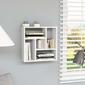 Vidaxl półka ścienna, biała, 45,1x16x45,1 cm, płyta wiórowa