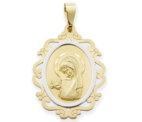 Medalik z wizerunkiem matki bożej - 41376