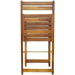 Zestaw ogrodowy składany stół + 2 krzesła pollon drewniany