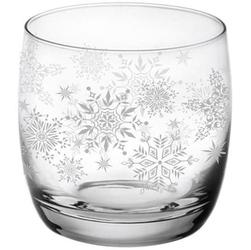 Komplet 6 szklanek białe śnieżynki 260ml tadar