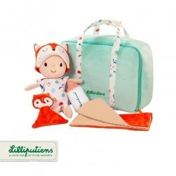 Lilliputiens lalka z zestawem podróżniczym z walizeczką i akcesoriami alex 12 m+
