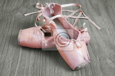 Plakat stare różowe baletki