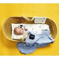 Baby blue błękitny kocyk bambusowy tkany