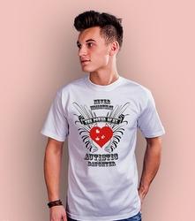 Autistic daughter t-shirt męski biały xl