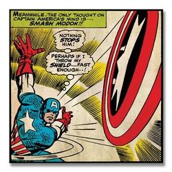 Captain america shield - obraz na płótnie