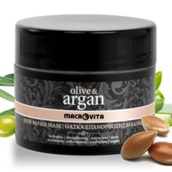 Macrovita olive  argan naprawcza maseczka do włosów z olejkiem arganowym 200ml - 200ml