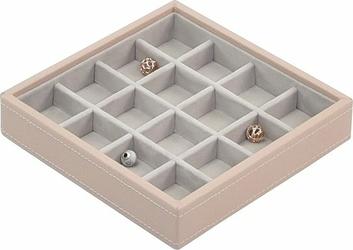 Pudełko na charmsy 16 komorowe Stackers jasnoróżowe
