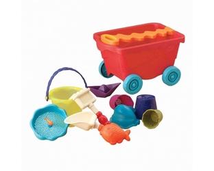 B.toys wózek-wagon z akcesoriami plażowymi - czerwony