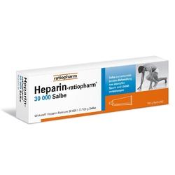 Heparin ratiopharm 30 000 salbe