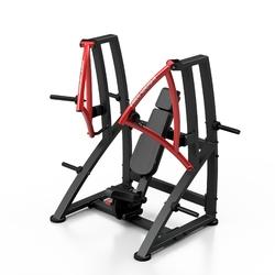 Maszyna na wolny ciężar do ćwiczenia mięśni klatki piersiowej w skosie ujemnym mf-u016 - marbo sport - czarny  antracyt metalic