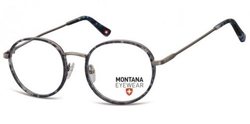 Panterkowe niebieskie lenonki okrągłe oprawki optyczne mm608d