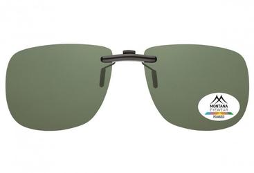 Nakładki zielone nerdy polaryzacyjne na okulary korekcyjne montana c2a