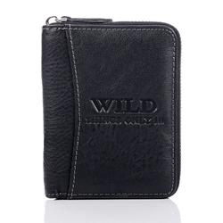 Czarny męski portfel skórzany
