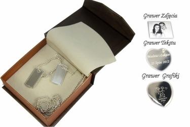 Nieśmiertelniki srebro 925 s1+grawer zdjecia