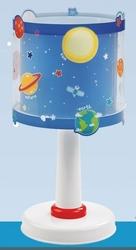 Lampka nocna kosmos planety stojąca na szafkę