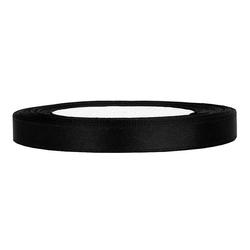 Tasiemka satynowa 6mm32m - czarny - cza