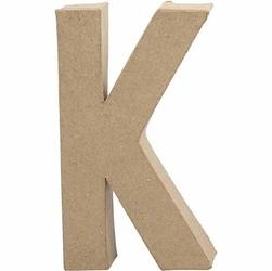 Litera z papier mache 20,5x2,5 cm - K - K