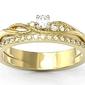 Pierścionek z żółtego złota z brylantami bp-77z - żółte  diament