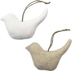 Ptaszek z tkaniny z zawieszką - naturalny