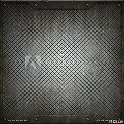 Plakat na papierze fotorealistycznym tekstura metalu