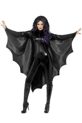 Strój skrzydła nietoperza czarna peleryna halloween