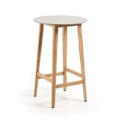 Drewniany stolik ogrodowy giordo brązowy