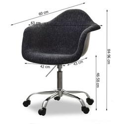 Fotel obrotowy tunis czarny