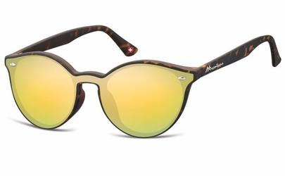 Okulary pełne lustro  okrągłe lenonki lustrzane ms46c