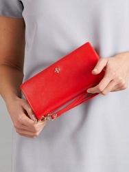 Duży portfel damski czerwony milano design - czerwony