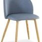 Krzesło do salonu emma, tapicerowane, denim
