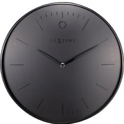 Elegancki zegar ścienny Glamour Nextime 40 cm, czarny 3235 ZW