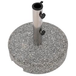 Stojak na parasole okrągły polerowany granit ok. 25 kg szary marmurkowy ø 38x38 cm