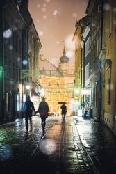 Warszawa spacerkiem po starówce - plakat premium wymiar do wyboru: 50x70 cm