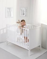 Łóżeczko dziecięce 120x60 cm ECO PANEL TROLL k. biały