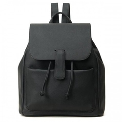 Plecak skórzany vintage czarny