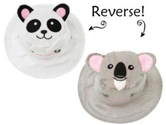 Dwustronny kapelusz flapjack - m - panda  koala
