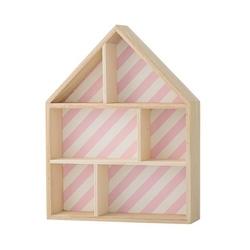 Półka domek różowe paski bloomingville