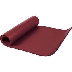 Mata do ćwiczeń fitness jogi duża 190x100x1,5cm antypoślizgowa rubinowa