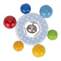 Pierścień drewniany confetti z dzwonkiem