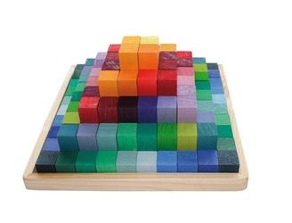 Piramida 3+, tęczowa, grimms