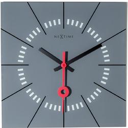 Zegar ścienny Nextime Stazione 35 x 35 cm, szary 8636 GS